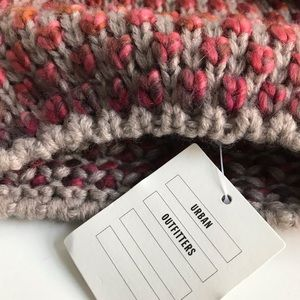 Urban Outfitters Accessories - Multi color knit beanie with faux fur Pom Pom